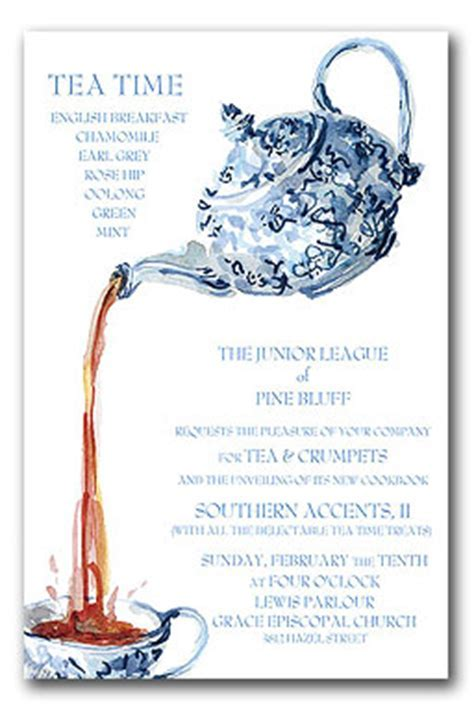 Blue China Tea   Party Invitations by Invitation