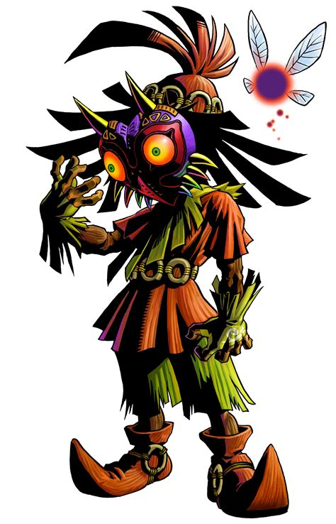majoras mask the legend of majora s mask 3d artwork released