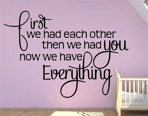 Baby Quotes Family Quotes We Had Each Other Than We Had You A