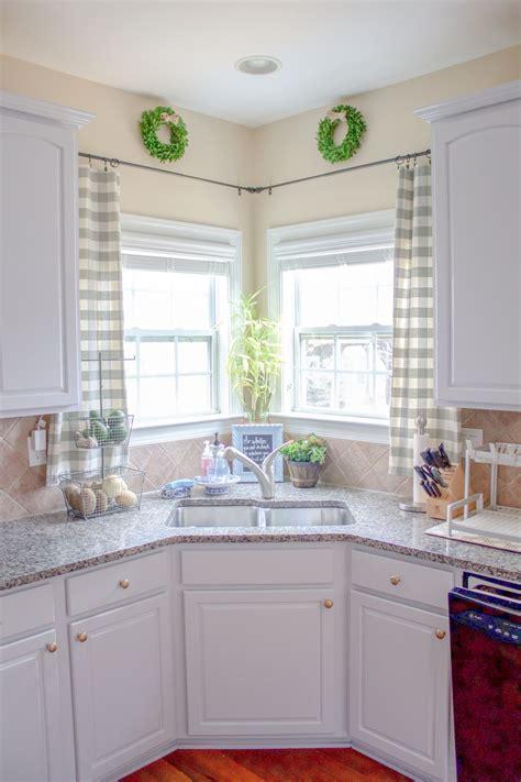 kitchen window treatments corner sink kitchen kitchen