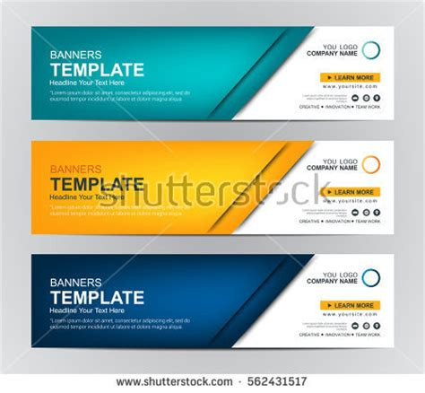 template design header web abstract web banner design background header stock vector