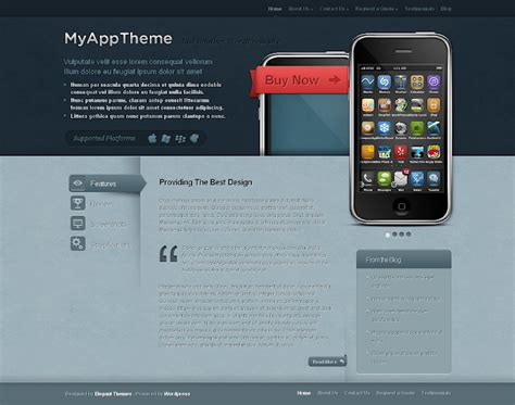 mobile themes in html free download premium wordpress themes myapp mobile theme