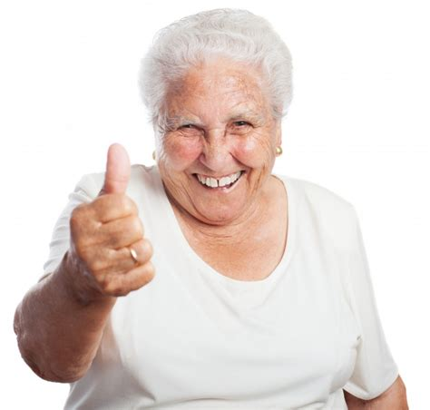 old ladies senior woman with a thumbs up photo free download