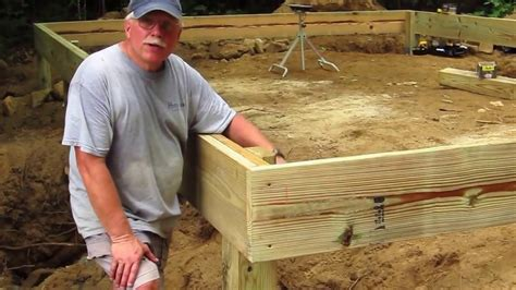 how to frame a floor diy shed askthebuilder how to build a wood frame floor part 1