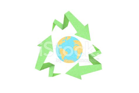 Recycle With Style by Recycle Sign Created With Arrow Origami Paper Texture