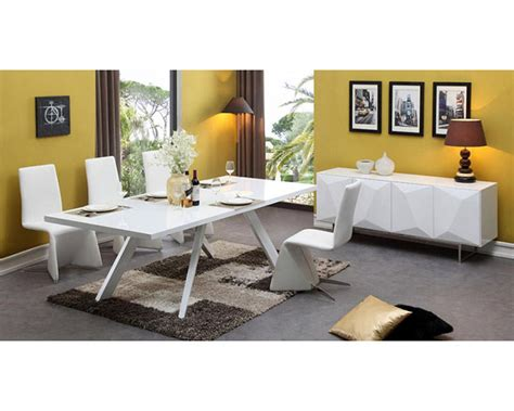 White Dining Set Contemporary White Dining Set 44d1108 Set