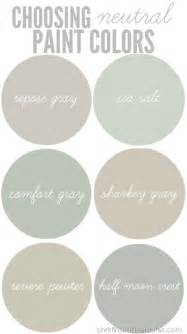 neutral paint colors on revere pewter gray