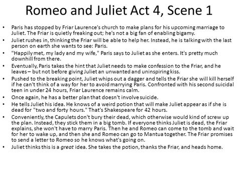 Themes In Romeo And Juliet Act 4 Scene 5 | romeo juliet timeline ppt download