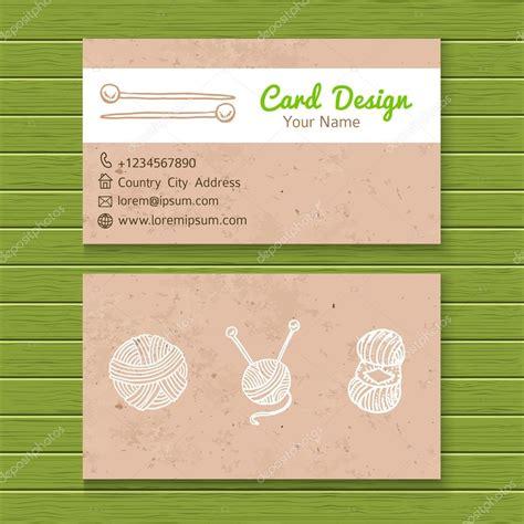 Knitting Business Card Templates by вязание шаблон визитной карточки мастерской векторное