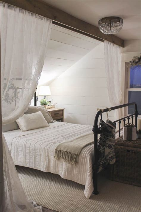 beds with curtains around them best 25 sloped ceiling ideas on pinterest sloped