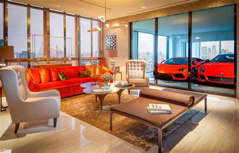 rich living room rich in singapore park their ferraris in the living room net worth