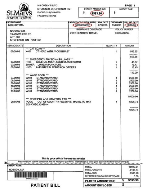 Patient Invoice Template Smdlab Invoice Hospital Bill Template