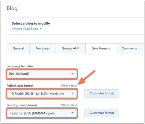 avada theme blog date format how do i edit the time settings for my hubspot portal