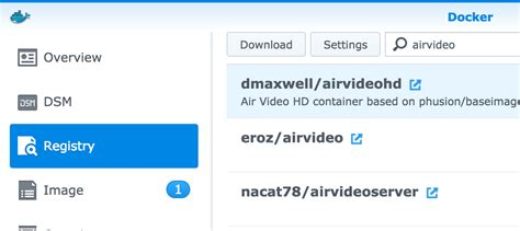 tutorial docker synology synology airvideohd docker graphical install without ssh