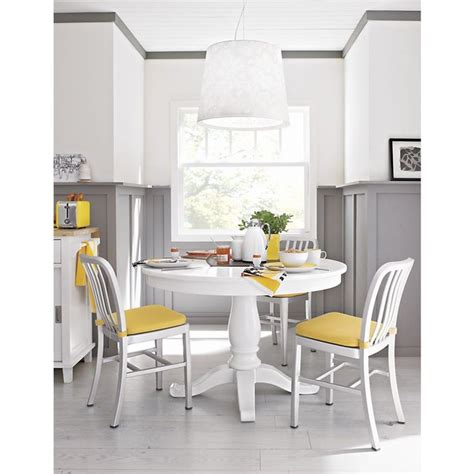 White Extension Dining Table Avalon 45 Quot White Extension Dining Table Crate And Barrel Yellow Top Extension Dining Table