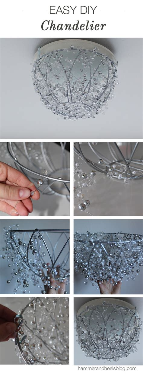 Diy Crystal Chandelier To Sparkle Up Your Home All Created Easy Diy Chandelier