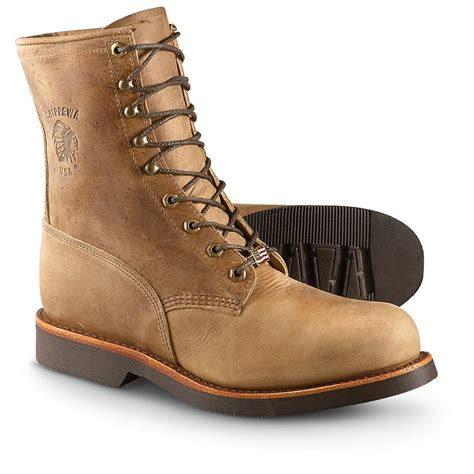 boots for mens work s chippewa boots 174 8 quot steel toe lace up work boots