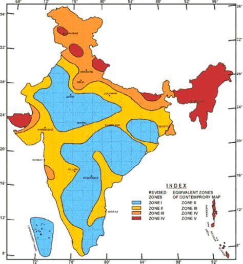earthquake zones map earthquake zones of india wikipedia