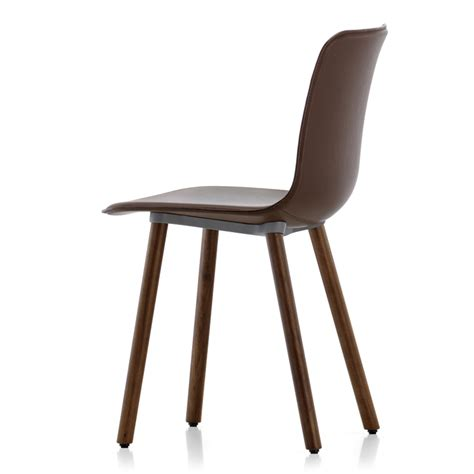 wood and leather chair vitra hal leather wood chair