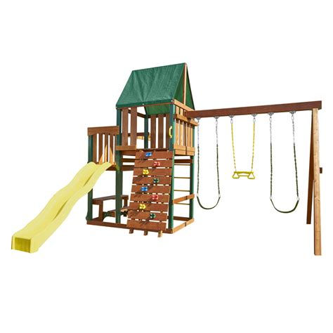 lowes wooden swing sets swing set with monkey bars on pinterest swing sets