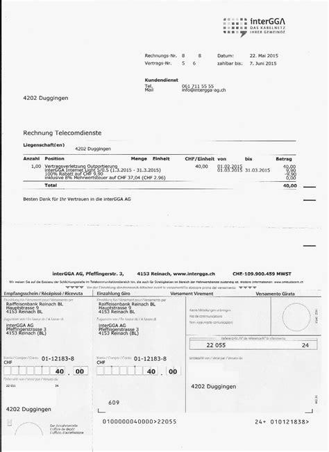 Rechnung Schweiz Nicht Steuerbar Dual Provider