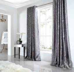 sicily curtains luxury silk silver grey embroidered