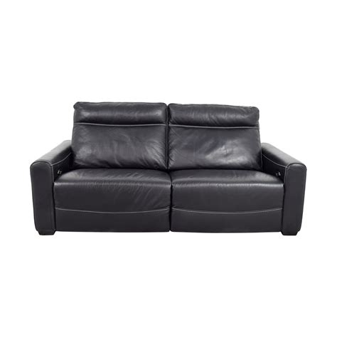 Black Leather Recliner Sofa Impressive Black Leather Black Reclining Leather Sofa