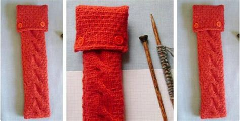 how to clean knitting machine needles neat n nifty knitted needle cozy free knitting pattern