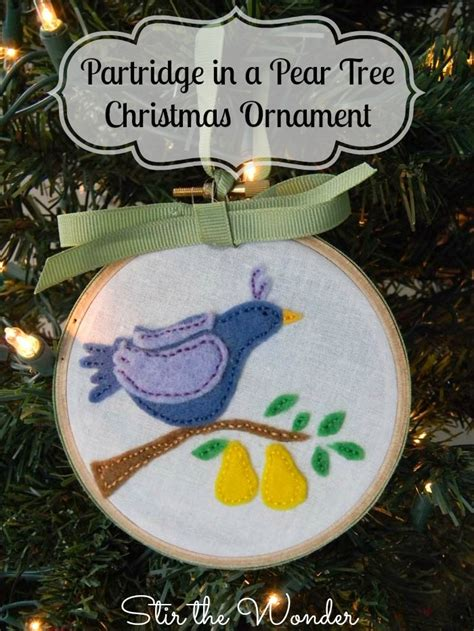 partridge in a pear tree ornament craft stir the wonder
