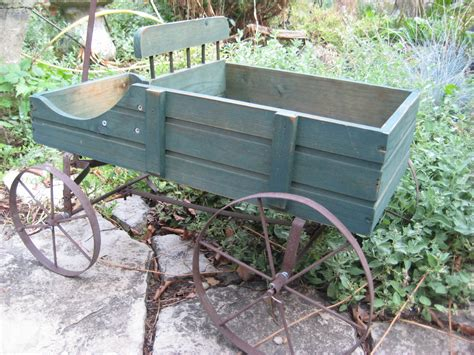 Garden Wagon Planter by Vintage Garden Cart Wagon Planter Garden By