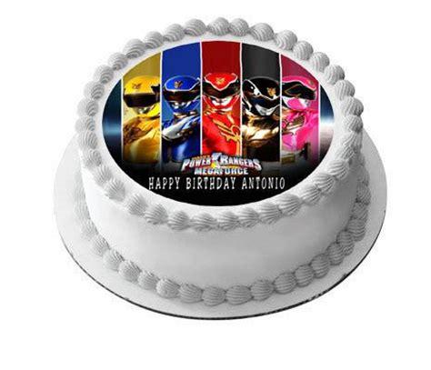 power rangers megaforce edible cake  cupcake topper edible prints  cake epoc