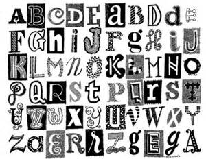 different styles of letters different types of