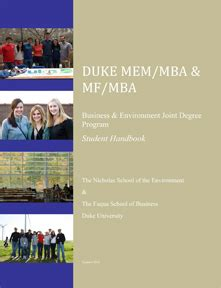 Duke Mba Joint Degree by Mem Mba And Mf Mba Edge