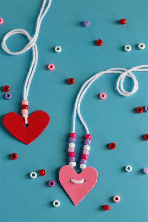 My Home Decoration Games by Valentine S Friendship Necklaces Make And Takes