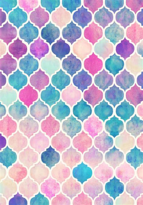 pastel watercolor pattern rainbow pastel watercolor moroccan pattern by micklyn le
