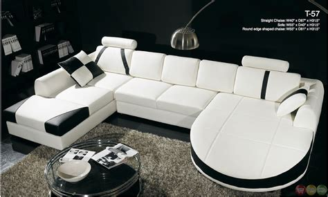 black and white chaise lounge divani casa black and white leather sectional sofa dual