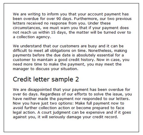 What Is A Credit Letter Definition Credit Letter Sles