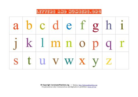 free printable lowercase alphabet chart letter chart 6 best images of printable alphabet letters chart free