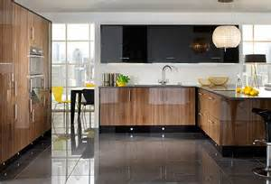 Kitchen cabinets from the primo noce range