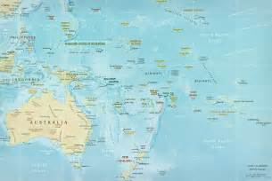 map of oceania pacific islands polynesia