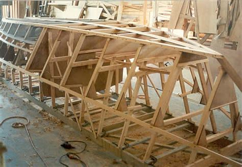 boat building frame custom wooden boat building the 27 st pierre dory