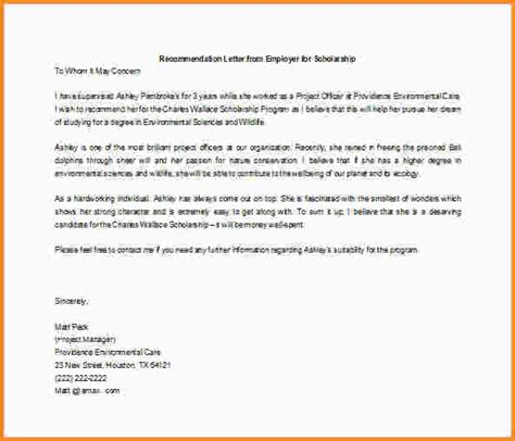 Sle Scholarship Letter Of Recommendation Format Scholarship Resume Templates 25 Images 7 High School Scholarship Application Template