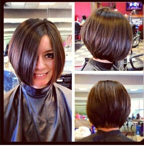 one side stack sassy bob bllack hair 25 best ideas about stacked bob short on pinterest