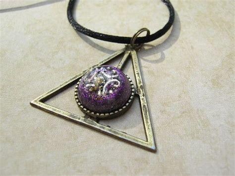 Lucky Pendant Orgonite purple orgone triangle pendant emf protection 271 pendants triangles and purple