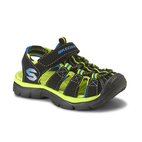skechers toddler boy s relix black green blue sport sandal