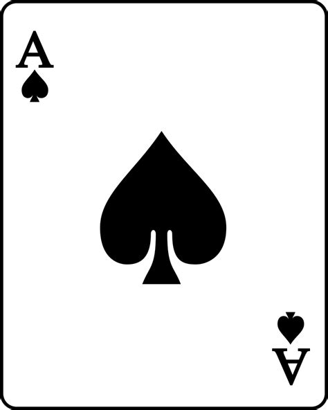 ace of spades card template file card spade a svg wikimedia commons