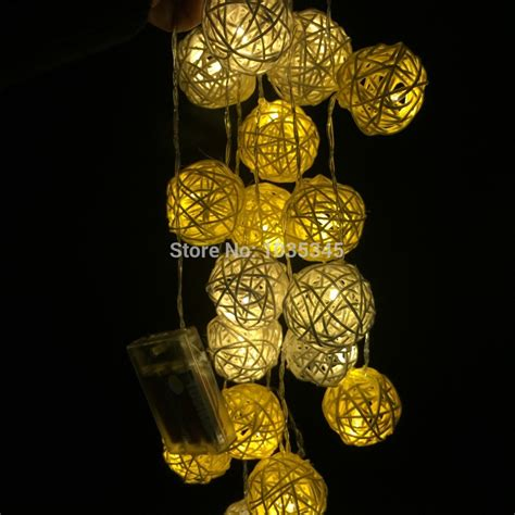christmas decorative light balls aliexpress com buy 20 set handmade rattan ball string