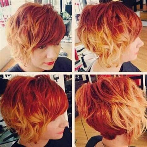 blonde red colored short hair hair red blonde hair