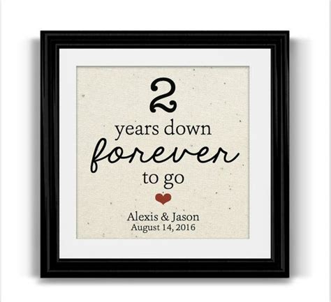 Wedding Anniversary Gift For A Husband by Best 25 Second Anniversary Gift Ideas On