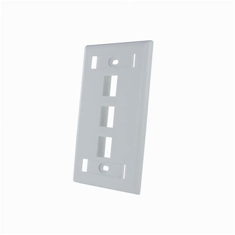 Faceplate Hdmi Rj45 By Subway 3 port keystone rj45 cat network faceplate wall plate